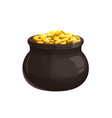 pot with gold icon leprechaun treasure vector image