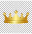 realistic gold crown 3d golden crown isolated on vector image vector image
