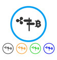ripple and bitcoin road pointer rounded icon vector image