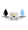 scales oil product water the concept of choice vector image vector image