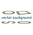 set curved routes vector image
