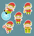 set of christmas characters set of christmas vector image vector image