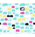 Shaped grunge seamless background ink pattern vector image vector image