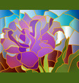 stained glass purple tulip vector image