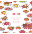 thai food restaurant advertising with asian dishes vector image vector image