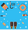 the are dive equipment icons vector image vector image