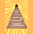 throne on top pyramid vector image