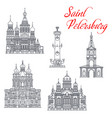travel landmarks saint petersburg architecture vector image