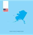 united states of america country map with flag vector image