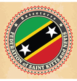 Vintage label cards of Saint Kitts and Nevis flag vector image vector image