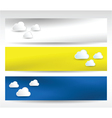web headers clouds vector image vector image
