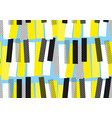 yellow and blue jazz music seamless pattern vector image vector image