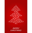 Christmas tree made from snowflakes and snow vector image