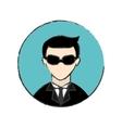 male spy icon image vector image