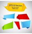 Set of announcement paper labels vector image