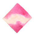 abstract pink square watercolor hand painting bann vector image