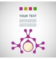 Abstract purple man on a white background vector image vector image