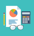 Accounting concept Flat design stylish Isolated on vector image