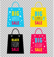 advertising shopping bags black friday sale vector image vector image
