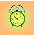 Alarm clock pop art vector image vector image