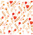 amazing floral seamless pattern vector image vector image