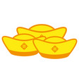 ancient chinese gold money ingots vector image vector image