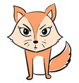 angry fox on white background vector image vector image