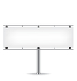 Blank metal billboard on white background vector image vector image