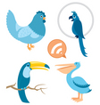 Blue birds part 1 vector | Price: 1 Credit (USD $1)