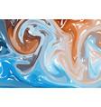 blue brown digital marbling elegant marbled vector image vector image