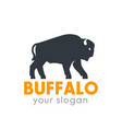 buffalo logo element isolated over white vector image vector image
