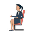 business woman on office chair vector image