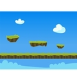 Cartoon Nature Landscape with Grass and Cloud for vector image vector image