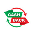 cash back money refound - concept banner il vector image vector image