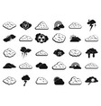 cloud icon set simple style vector image vector image