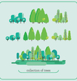 Collection of trees floral group nature collection vector image