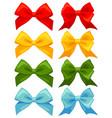 colorful cartoon multicolor bow set vector image