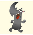 cute cartoon rhino character vector image