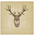 deer old background vector image vector image