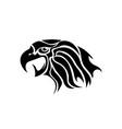 eagle head tattoo design logo prey bird vector image