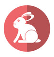 easter bunny cute symbol shadow vector image vector image