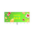 Easter sale billboard with holiday offer