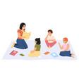 elementary school lesson female kindergarten vector image