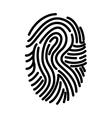 fingerprint finger human person vector image