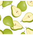 green pear seamless pattern vector image vector image