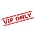 grunge textured vip only stamp seal vector image