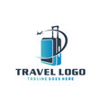 holiday travel suitcase logo vector image vector image