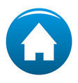 Home icon blue vector image