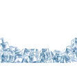 ice cubes frame 3d realistic transparent iced vector image vector image
