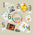 infographic template with paper business vector image